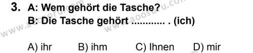 Almanca 8 Dersi 2013 - 2014 Yılı 3. Dönem Sınavı 3. Soru