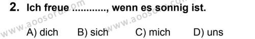 Almanca 8 Dersi 2014 - 2015 Yılı 2. Dönem Sınavı 2. Soru