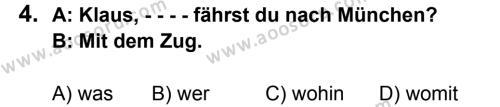 Almanca 8 Dersi 2015 - 2016 Yılı 2. Dönem Sınavı 4. Soru