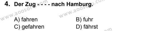 Almanca 8 Dersi 2016 - 2017 Yılı 2. Dönem Sınavı 4. Soru
