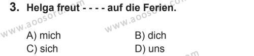 Almanca 8 Dersi 2017 - 2018 Yılı 2. Dönem Sınavı 3. Soru