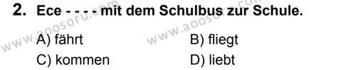 Almanca 8 Dersi 2019 - 2020 Yılı 2. Dönem Sınavı 2. Soru