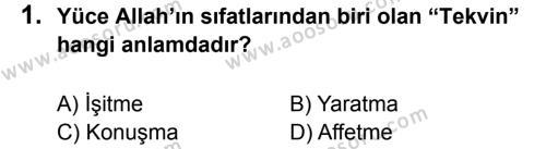 Din Kültürü ve Ahlak Bilgisi 5 Dersi 2012 - 2013 Yılı 1. Dönem Sınavı 1. Soru