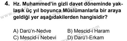Din Kültürü ve Ahlak Bilgisi 6 Dersi 2011 - 2012 Yılı 3. Dönem Sınavı 4. Soru