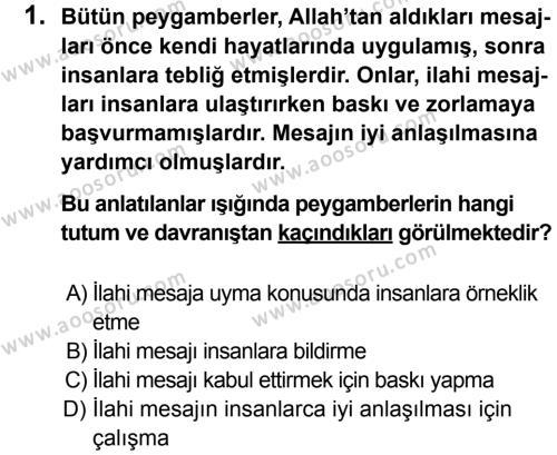 Din Kültürü ve Ahlak Bilgisi 6 Dersi 2013 - 2014 Yılı 2. Dönem Sınavı 1. Soru