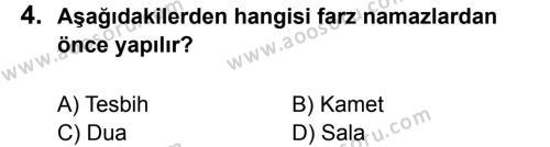 Din Kültürü ve Ahlak Bilgisi 6 Dersi 2013 - 2014 Yılı 3. Dönem Sınavı 4. Soru