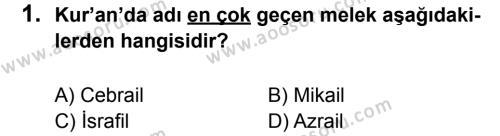Din Kültürü ve Ahlak Bilgisi 7 Dersi 2012 - 2013 Yılı 2. Dönem Sınavı 1. Soru