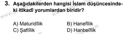 Din Kültürü ve Ahlak Bilgisi 7 Dersi 2013 - 2014 Yılı 2. Dönem Sınavı 3. Soru