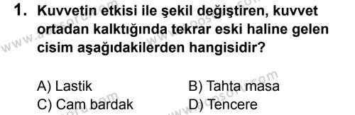 Fen Bilimleri 5 Dersi 2013 - 2014 Yılı 1. Dönem Sınavı 1. Soru