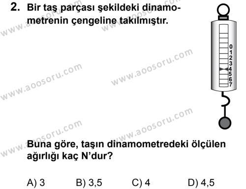 Fen Bilimleri 5 Dersi 2013 - 2014 Yılı 1. Dönem Sınavı 2. Soru