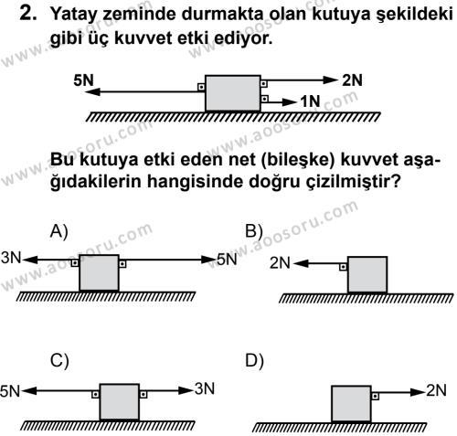 Fen Bilimleri 6 Dersi 2013 - 2014 Yılı 2. Dönem Sınavı 2. Soru