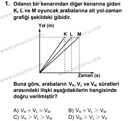 Fen Bilimleri 6 Dersi 2013 - 2014 Yılı 3. Dönem Sınavı 1. Soru