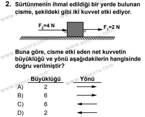 Fen Bilimleri 6 Dersi 2013 - 2014 Yılı 3. Dönem Sınavı 2. Soru