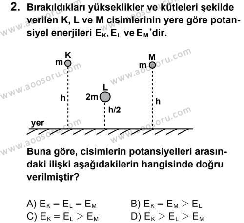Fen Bilimleri 7 Dersi 2012 - 2013 Yılı 3. Dönem Sınavı 2. Soru