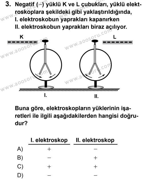 Fen Bilimleri 7 Dersi 2013 - 2014 Yılı 2. Dönem Sınavı 3. Soru