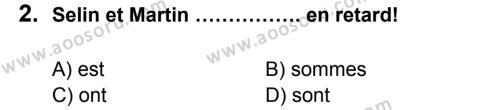 Fransızca 5 Dersi 2013 - 2014 Yılı 3. Dönem Sınavı 2. Soru