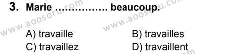 Fransızca 5 Dersi 2013 - 2014 Yılı 3. Dönem Sınavı 3. Soru