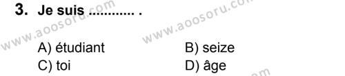 Fransızca 6 Dersi 2011 - 2012 Yılı 2. Dönem Sınavı 3. Soru
