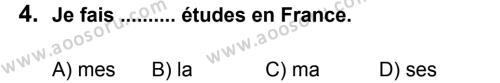 Fransızca 6 Dersi 2011 - 2012 Yılı 3. Dönem Sınavı 4. Soru