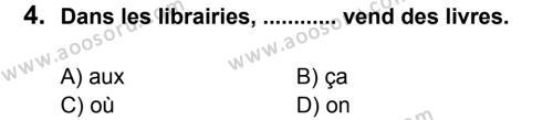 Fransızca 6 Dersi 2012 - 2013 Yılı 1. Dönem Sınavı 4. Soru