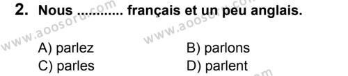 Fransızca 6 Dersi 2012 - 2013 Yılı 2. Dönem Sınavı 2. Soru