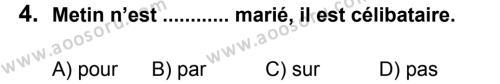 Fransızca 6 Dersi 2012 - 2013 Yılı 2. Dönem Sınavı 4. Soru