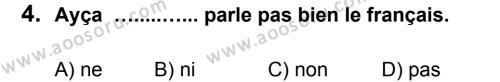 Fransızca 6 Dersi 2012 - 2013 Yılı 3. Dönem Sınavı 4. Soru