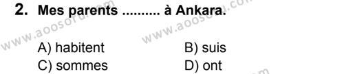 Fransızca 7 Dersi 2011 - 2012 Yılı 2. Dönem Sınavı 2. Soru