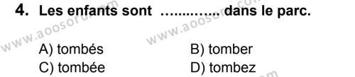 Fransızca 7 Dersi 2012 - 2013 Yılı 3. Dönem Sınavı 4. Soru
