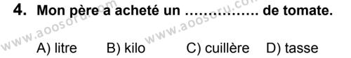 Fransızca 7 Dersi 2013 - 2014 Yılı 3. Dönem Sınavı 4. Soru