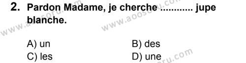 Fransızca 7 Dersi 2014 - 2015 Yılı 1. Dönem Sınavı 2. Soru