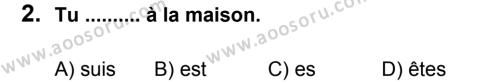 Fransızca 8 Dersi 2011 - 2012 Yılı 3. Dönem Sınavı 2. Soru