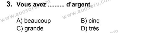 Fransızca 8 Dersi 2011 - 2012 Yılı 3. Dönem Sınavı 3. Soru