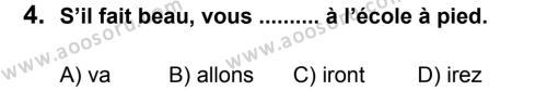 Fransızca 8 Dersi 2011 - 2012 Yılı 3. Dönem Sınavı 4. Soru