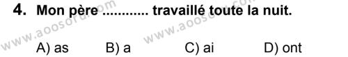 Fransızca 8 Dersi 2012 - 2013 Yılı 1. Dönem Sınavı 4. Soru