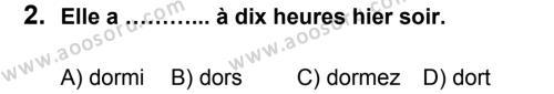 Fransızca 8 Dersi 2013 - 2014 Yılı 1. Dönem Sınavı 2. Soru
