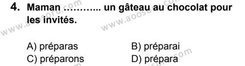 Fransızca 8 Dersi 2013 - 2014 Yılı 1. Dönem Sınavı 4. Soru
