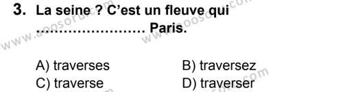 Fransızca 8 Dersi 2013 - 2014 Yılı 2. Dönem Sınavı 3. Soru