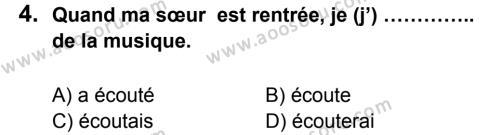 Fransızca 8 Dersi 2013 - 2014 Yılı 3. Dönem Sınavı 4. Soru