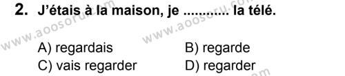 Fransızca 8 Dersi 2014 - 2015 Yılı 1. Dönem Sınavı 2. Soru