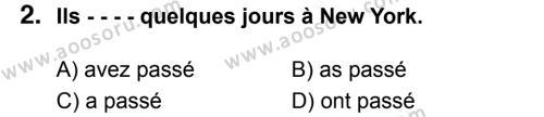 Fransızca 8 Dersi 2017 - 2018 Yılı 3. Dönem Sınavı 2. Soru