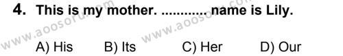 İngilizce 5 Dersi 2012 - 2013 Yılı 3. Dönem Sınavı 4. Soru