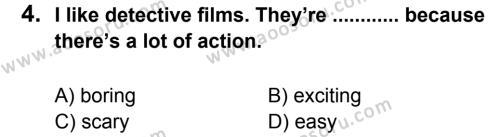 İngilizce 5 Dersi 2013 - 2014 Yılı 2. Dönem Sınavı 4. Soru