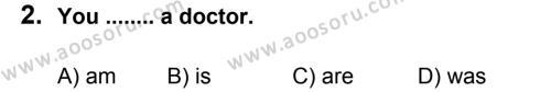 İngilizce 6 Dersi 2011 - 2012 Yılı 2. Dönem Sınavı 2. Soru