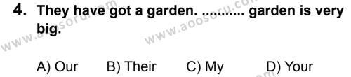 İngilizce 6 Dersi 2011 - 2012 Yılı 2. Dönem Sınavı 4. Soru