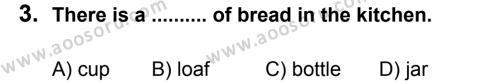 İngilizce 6 Dersi 2011 - 2012 Yılı 3. Dönem Sınavı 3. Soru