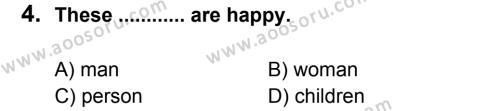 İngilizce 6 Dersi 2012 - 2013 Yılı 3. Dönem Sınavı 4. Soru