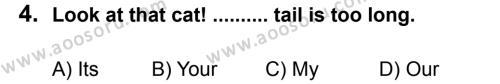 İngilizce 6 Dersi 2013 - 2014 Yılı 1. Dönem Sınavı 4. Soru
