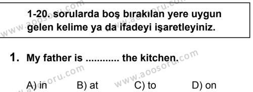 İngilizce 6 Dersi 2013 - 2014 Yılı 2. Dönem Sınavı 1. Soru
