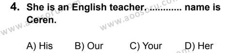 İngilizce 6 Dersi 2013 - 2014 Yılı 2. Dönem Sınavı 4. Soru